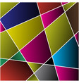 Abstract - colored stained glass mosaic vector image