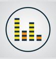 audio mixer colorful outline symbol premium vector image