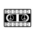 cassete in hippie style icon vector image