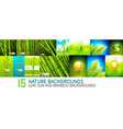 collection of nature backgrounds and banners - vector image