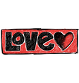 Doodle Love vector image vector image