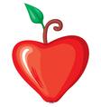 valentine apple vector image vector image