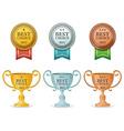 best choice award medal vector image