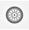 Wheel icon or symbol vector image