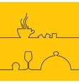 Food and drink line design vector image vector image