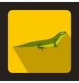 Little lizard icon flat style vector image