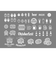 Beer icon chalkboard set - labels posters signs vector image