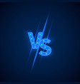 Blue neon versus logo vs letters for sports and vector image