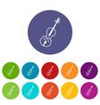 cello set icons vector image