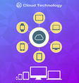 Cloud technology infographics in flat style on vector image