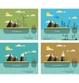 Ecology Concept Environment Green Energy and vector image