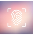 Fingerprint scanning thin line icon vector image
