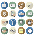 Flat Design Office Icons vector image