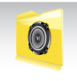 Folder with abstract audio speaker vector image