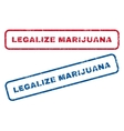 Legalize Marijuana Rubber Stamps vector image