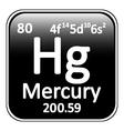 Periodic table element mercury icon vector image