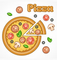 pizza homemade vector image