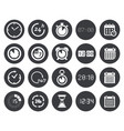time clock calendar icons vector image