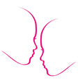 Woman whispering into another womans ears vector image