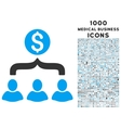 Sales Funnel Icon with 1000 Medical Business Icons vector image