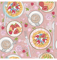 Seamless breakfast wafle pattern vector image