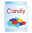 A packet of sweet vector image