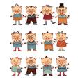 piggi couples vector image vector image