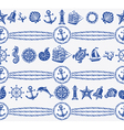 Banners with Nautical and sea symbols vector image