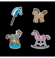 stickers with horses vector image