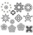 Snowflakes Set vector image