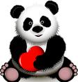 curious panda vector image vector image