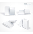 Set blank white boxes isolated on white vector image vector image