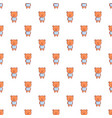 bear toy pattern seamless vector image