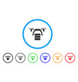 cargo drone rounded icon vector image
