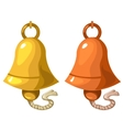 Classic bell on white background isolated vector image