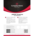 Creative business flyer vector image