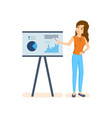 discuss business issues with audience colleagues vector image