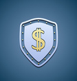 Dollar sign on a shield vector image