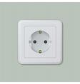 Euro electric socket 01 vector image