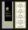 Modern Restaurant Menu Design Template Layout vector image