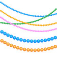 multicolored beads for festive decor for the vector image