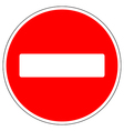 No entry road sign vector image