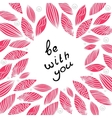Pink greeting card for valentine s day vector image