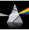 Prism Spectrum on Black Background vector image