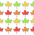 seamless pattern with rows of cute maple leaves vector image