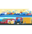Shipping Logistic Horizontal Banners vector image