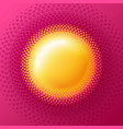 sun circle halftone logo vector image