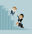 support in the business vector image