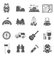 Tourism Icons Black vector image
