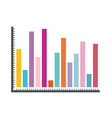 white background with statistical graphs colour vector image